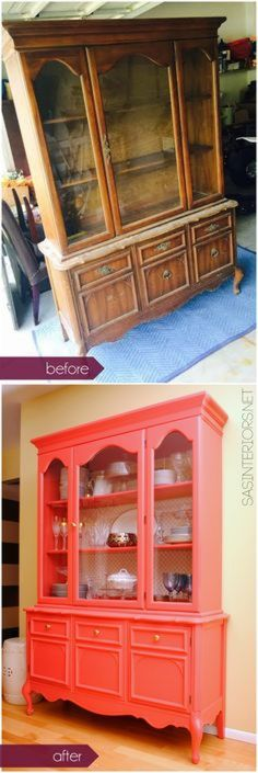 69 Super Ideas For Refurbished Furniture Before And After Projects China Cabinet. 69 Super Ideas For Refurbished Furniture Before And After Projects China Cabinets Refurbished Furniture, Paint Furniture, Repurposed Furniture, Furniture Projects, Furniture Making, Furniture Makeover, Retro Furniture, Furniture Outlet, Cheap Furniture