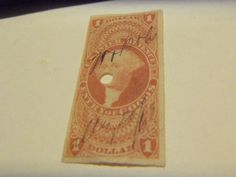 GREAT HIGHER PRICE BOB-1862 #R67A IMPERFORATE 1ST ISSUE $1.00 ENTRY OF GOODS $$ + GIN BONUS