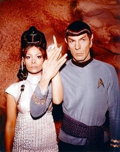 Spock and T'Pring. Too bad it didn't sail.