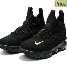 Swift Run Nike LBJ Lebron 15 XV Full-Black Gold sneaker