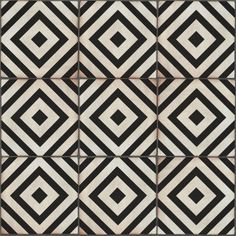 sevilla decor 200x200 black white decorative tile ceramicatile design - Decorative Tile