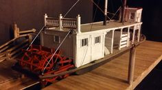 O scale On30   Kit wood models paddle steamer (model  trains, miniatures)