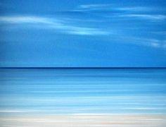 Beach ocean art painting, Abstract Beach ocean wall art print, Modern blue seascape painting, tropical art by Francine Bradette-FREE S&H Más Landscape Prints, Beach Landscape, Tropical Artwork, Seascape Paintings, Painting Abstract, Painting Art, Coastal Art, Coastal Cottage, Am Meer
