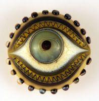 ButtonArtMuseum.com - Eye button:
