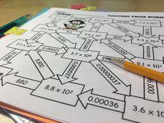 Scientific notation maze- great way to practice converting to and from scientific notation!