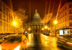 Scott and I went out almost every night taking photos all over Paris. The Pantheon here was right by our hotel. It was a rainy night when we were arriving home, so I had a feeling it would be a good time for photography! My intuition is not always spot-on, but in this case it worked out pretty well.  - Paris, France  - Photo from #treyratcliff Trey Ratcliff at http://www.StuckInCustoms.com