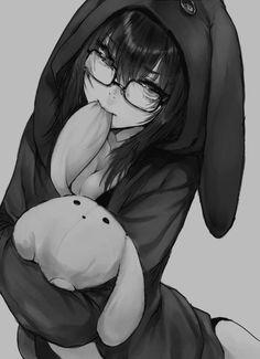 Anime kawaii girl bunny