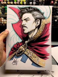 Doctor Strange by Artgerm Cartoon Drawings Of People, Disney Drawings, Drawing Disney, Doctor Strange Comic, Doctor Strange Drawing, Avengers Drawings, Character Drawing, Character Design, Copic Art