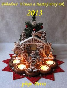 Gingerbread advent candles