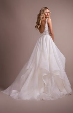 Hayley Paige Dylan V-Neck Low Back Wedding Dress  3b84261863d0