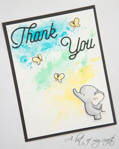 A bit of my crafts: Thank you card with MFT stamps and dies