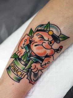 #poppey tattoo #old school #tattoo