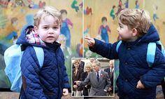 Prince George arrives for first day at his new Montessori nursery school