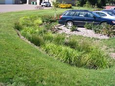 Also called a grassed channel or swale, a vegetated swale is a shallow, open channel well covered in grass or other plants.