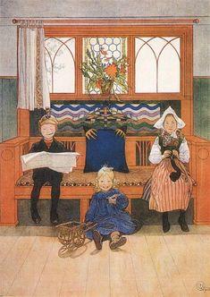 Orenco Originals Swedish Carl Larsson Kersti with Breadbasket Counted Cross Stitch Pattern