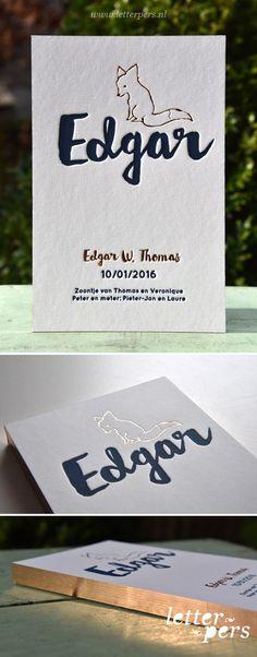 Geboortekaartje Edgar - Letterpers.nl