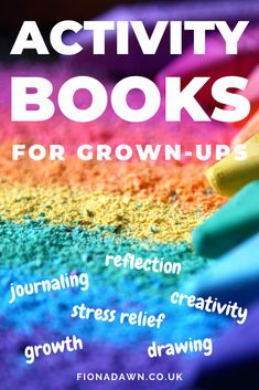 Unleash your creativity with the very best activity books for adults. Journal, draw, reflect, grow and relieve stress and anxiety. #activitybooksforadults #activitybooks #adultcoloringbooks #adultcoloringbook #journaling #journalling #artjournal #artjournals #bestjournals #stress #anxiety How To Become Happy, Are You Happy, Book Activities, Activity Books, Yoga Books, Wreck This Journal, Journal Prompts, Stress And Anxiety, Stress Relief