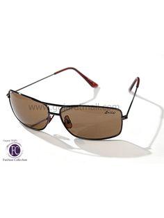 Buy Sunglasses Designer Stylish Look Brown Metallic Frame Brown Lens • GujaratMall.com