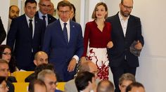 Queen Letizia of Spain attend the opening of the annual meeting of Cervantes Institute Directors at the Culture City of Galicia in Santiago de Compostela, Spain, 21 July 2015.