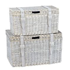 Wicker storage chest from Marks & Spencer - great way for some extra storage and could make a cute night table next to the bed!