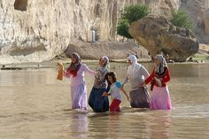 Crossing the shallow Tigris River, Hasankeyf, Turkey