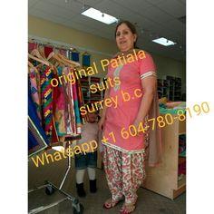 Peach shirt with Patti work on arms and gheera Peach tiger print full Patiala Salwar. Get more designs Whatsapp on +1 604-780-8190