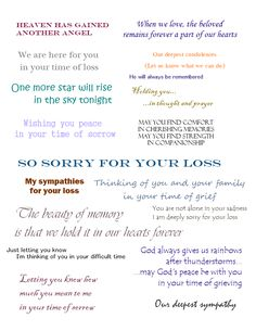 Sympathy Cards Verses For Sympathy Cards That Express Your Deepest pertaining to Sorry For Your Loss Card Template - Professional Templates Ideas Verses For Sympathy Cards, Sympathy Card Sayings, Greeting Card Sentiments, Les Sentiments, Sympathy Quotes For Loss, Sympathy Notes, Words Of Sympathy, Greeting Cards, Scrapbooking