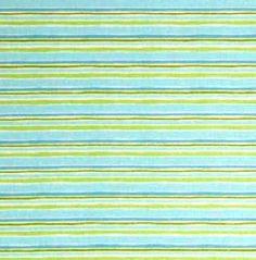 Safari fun stripe blue green (Franela) de La Retalera por DaWanda.com