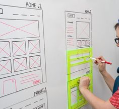 Very nifty idea for the glass whiteboard in your office!. If you like UX, design, or design thinking, check out theuxblog.com