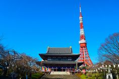 増上寺と東京タワー / Zojyo-ji Temple and Tokyo Tower by Active-U on Flickr.