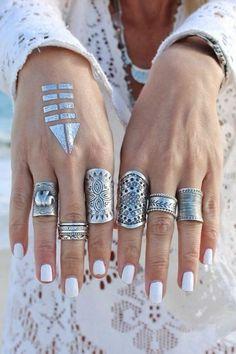 Украшения в стиле бохо: 20 смелых сочетаний браслетов и колец - Ярмарка Мастеров - ручная работа, handmade