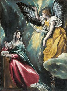 Annunciation, El Greco, Ohara Museum - 受胎告知 - エル・グレコ - 大原美術館