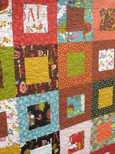 Wee Woodland quilt by ModernMaterialGirl on etsy.