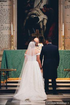 Wedding photography at church ceremony