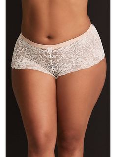 From our Torrid Curve Body™collection - a cheeky cut panty has stretchy lace construction that's as soft as it is comfortable. Search SKU 110082483 for matching bra Medium coverage Nylon/spandex Wash cold; dry low Imported plus size underwear Affordable Plus Size Clothing, Plus Size Womens Clothing, Plus Size Outfits, Plus Size Underwear, Bikini Dress, Sexy Hot Girls, Clothes For Sale, Torrid, Lingerie