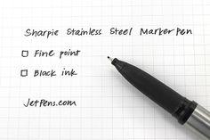 Sharpie Stainless Steel Marker Pen - Fine Point - Black