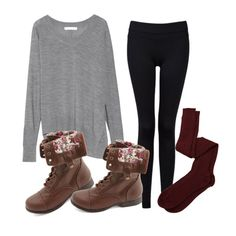 """Comfy Fall Outfit"" by tashhx0 on Polyvore"