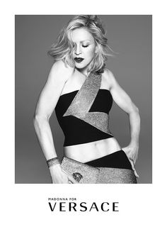 Madonna has been unveiled as the face of Versace's SS15 and she was hand-picked by Donatella