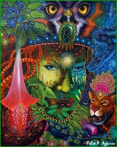 Art dmt i-like Psychedelic Art, Tarot, Sacred Plant, Psy Art, Visionary Art, Fantasy Artwork, Art Google, Art Forms, Les Oeuvres