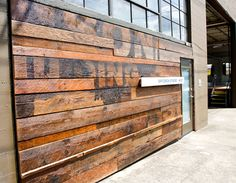 Reclaimed Wood + Entrance