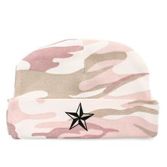 Pink Camo Black Star Baby Beanie Camo Baby Clothes, Camo Baby Stuff, Funny Baby Gifts, Funny Babies, Newborn Hats, Newborn Outfits, New Baby Girls, Baby Boy, Marine Corps Baby