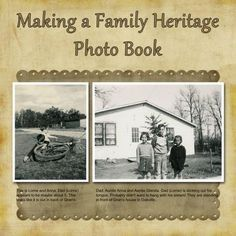How to make a family heritage genealogy photo book with your family tree