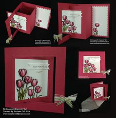 Rose Red Mother's Day Fancy Fold card make with Stampin' Up! Blessed Easter Stamp. Free tutorial on creatinwithkirsteen.com