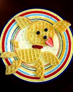 Made This Breakfast Waffle Puppy For My Little One..