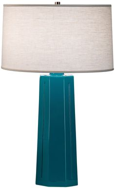 """Robert Abbey Isis Peacock 26"""" High Table Lamp -"""