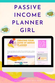 """Passive Income Planner Girl Are you a planner girl with dreams of turning your passion for planners into a full-fledge, heart-centered business full of raving fans? If you said """"YASSS!"""", then this course is for you. Blog Planner, Life Planner, 2015 Planner, Planner Ideas, Make Money From Home, How To Make Money, Student Planner Printable, Etsy Seo, Digital Journal"""