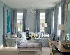 blue living room @ Home Design Ideas Living Room Paint, Home Living Room, Living Room Furniture, Living Room Decor, Brown Furniture, Modern Furniture, Blue Rooms, Blue Walls, Blue And White Living Room