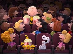 The Peanuts Movie sneak peek: The Peanuts gang featuring Charlie Brown, Snoopy, Peppermint Patty, Lucy, and Woodstock Peanuts Gang, Die Peanuts, Peanuts Movie, Peanuts Characters, Disney Characters, Peanuts 2015, Peanuts Comics, Peanuts Cartoon, Cartoon Movies