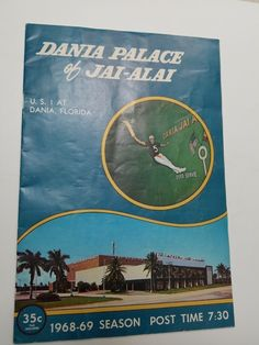 Official Dania Jai Alai program dated December 10, 1968 | eBay