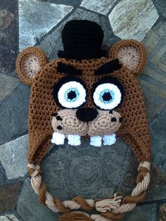 Five Nights At Freddy's Hat Handmade Crochet Hat by ForeverKnotty